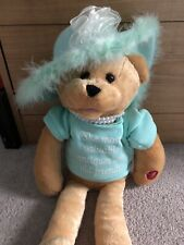 "Chantilly Lane Musicals Teddy Bear w/Pearls Sings ""That's What Friends Are For"""