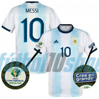Argentina 2019 Home Soccer Jersey Shirt Climalite Official MESSI Copa America