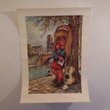 Poster Michel THOMAS La Muse 1975 Editions KRISARTS Paris made in France