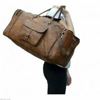 """Men's New 30"""" Top-Quality Vintage Leather Travel Bag Brown Duffel Luggage Sport"""