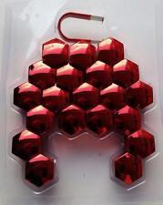 <21mm CHROME RED Wheel Nut Covers +removal tool fits PERODUA Myvi Kelisa Kenari