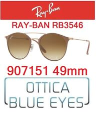 Occhiali da Sole RAY BAN SUNGLASSES RB 3546 907151 49mm RAYBAN DOUBLE BRIDGE NEW