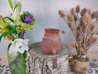 Vintage Handmade Terracotta Pottery Amphora Vase Jar Storage Planter.