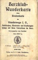 Harzklub-Wanderkarte, früher Routenkarte der Wanderwege..., 1926