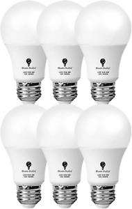 12 Volt Light Bulb 12V LED Bulb A19 6W 3000K Warm White E26 Low Voltage 6 Pack