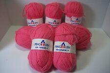 Penguin sport yarn 50% wool/50% acrylic 3 ply 50 gr/126 yds  #0081 pink lot of 7