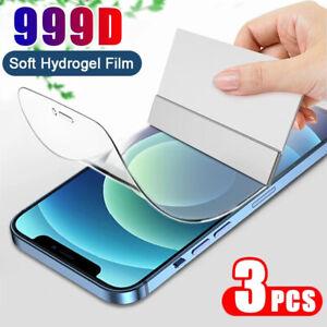 3X Hydrogel Film Screen Protector For iPhone 12 Mini/ 12 /12 Pro /12 Pro Max TPU