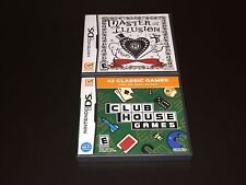 Master of Illusion & Clubhouse Games 2 Game Lot Nintendo DS Complete CIB