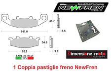 0108 - 1 Coppia Pastiglie Freno Anteriori NEWFREN per KAWASAKI KLE 500 dal 1991