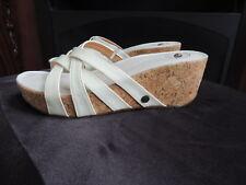Womens Size 7 M  * NURTURE * Leather Platform Wedge Cork Sandals Shoes NEW S-21