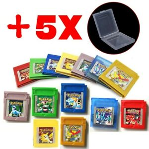 Classic Pokemon for Game Boy series Nintendo GBC Gold, Silver, Blue, Red, Green