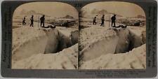 Keystone Stereoview Paradise Glacier, Rainier Nat Park, WA from Education Set #A