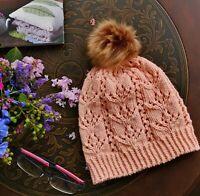 Knitting PATTERN - Striking Tulip Beanie Lace Flower Hat