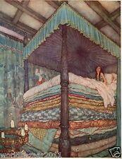 Edmund DULAC stampa La principessa e il Pea Fairytale Hans Christian Anderson