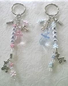 Baby key ring~gift~bag charm~pram charm~changing bag charm~new mum~personalised