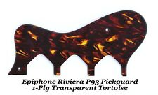 P93 Transparent 1-ply Tortoise Pickguard for Epiphone Vintage Guitar Project New