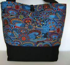 TRIBAL POTTERY PRINT HANDMADE HANDBAG PURSE TOTE POCKETBOOK BAG SHOULDER BAG