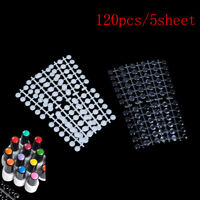 120pcs Nail Art Polish Palette Dot Flat Manicure Nail Color Card Gel Color TFB