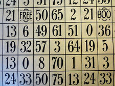 BINGO NUMBER GRID SEW SCARY LIGHT GOLD QUILTING TREASURES