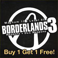 Borderlands 3 PS4 Level 60 [MAYHEM 10] WEAPONS Buy 1 Get 1 Free! M10 Guns BL3