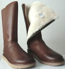 Damen UGG Australia Abree2 Leder Stiefel Schuhe G 6,5 wie 37,5 - 38 Braun Neu