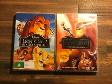 The Lion King 1&2 DVD's