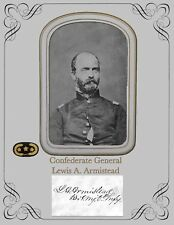 Civil War Confederate General Lewis A. Armistead ,Portrait & Aut