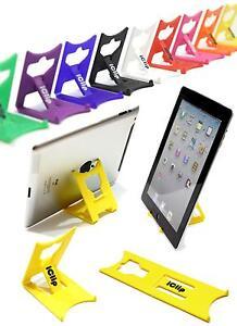 Apple iPad Tablet Holder YELLOW iClip Folding Travel Stand