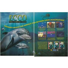 Sega CD Genesis ECCO The Dolphin Tides of Time video game two-page print ad