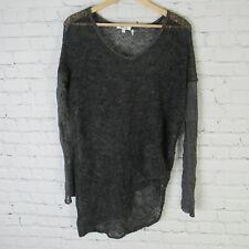 Helmut Lang Sweater Womens Small S Gray Alpaca Knit Sheer