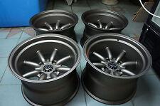 """JDM 15"""" X 10"""" Datsun Ae86 240z pcd114.3x4 wheels watanabe rkr rs rims z30 260z Z"""
