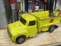 BUDDY L SAND & STONE 1954 TOY DUMP TRUCK pressed steel ORIGINAL VINTAGE