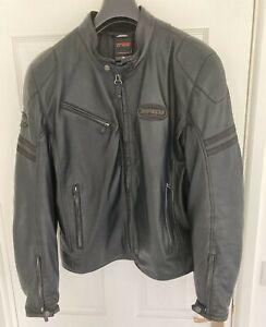 Spidi Ace Men's Leather Motorbike Jacket Size 54 (UK 44) Excellent Condition