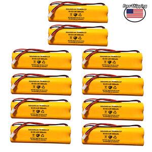 (10 Pack) All Fit E1021R EJW-NICAD 800mah LITHONIA 4.8v 650mAh D-AA650B DAA650B
