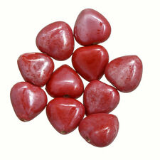 Shiny Ruby Red Luster Glass Heart Shape Beads 13mm Pack of 10 (P22/4)