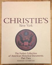 Forbes Collection Historical Documents Part Two Christie's Auction Catalog 2002