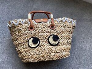 Brand New Anya Hindmarch Natural Seagrass Small Basket RRP$640