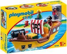 Playmobil 1.2.3- 9118. Barco Pirata. A partir de 1 año y medio
