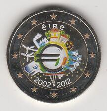 --- 2012A  2 EURO C0ULEUR IRLANDE EIRE ---  10 ANS DE L'EURO