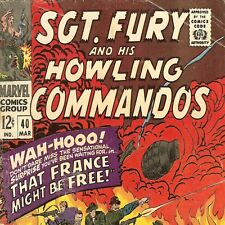 1967 Marvel Comic # 40 ~ Sgt Nick Fury & His Howling Commandos ~ Silver Age