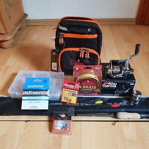 UL Forelle Angelrute Angelrolle Set Spoon Schnur Abu Garcia Doiyo Iron Claw Neu
