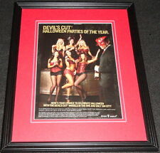 2012 Devil's Cut Halloween Party Lingerie Models Framed ORIGINAL Advertisement