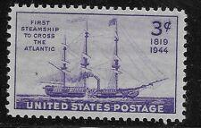US Scott #923, Single 1944 Savannah Steamship 3c FVF MNH