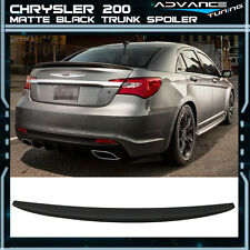 Matte Black 11-14 Chrysler 200 4Dr Sedan OE Factory Flush Mount Trunk Spoiler