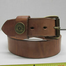 "Hermann Oak HARNESS LEATHER BELT HANDMADE  SHOTGUN MENS 1 1/2"" Made in USA"