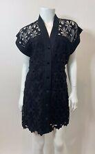 SANDRO Amandine Guipure-Lace Dress in Black Size FR 36