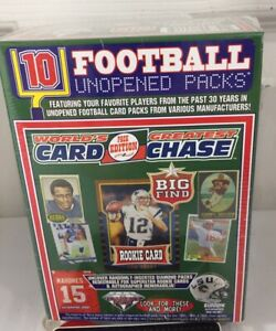 2020 Worlds Greatest Card Chase Football 10 Unopened packs Brady rookie? Blaster