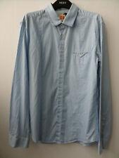 Hugo Boss Orange Label - Blue & White Striped Shirt Size M