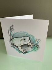 Whites Tree Frog Blank Greetings Card & Envelope
