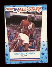 1989 Fleer All Star MICHAEL JORDAN Basketball Sticker Card #3 Chicago Bulls